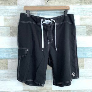"Ezekiel Swim Board Shorts 9"" Black"
